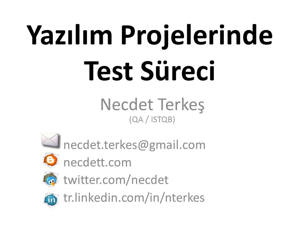 Yazılım Projelerinde Test Süreci