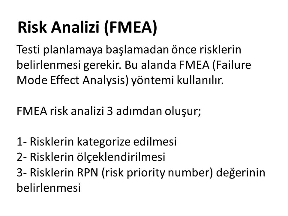 Risk Analizi (FMEA)