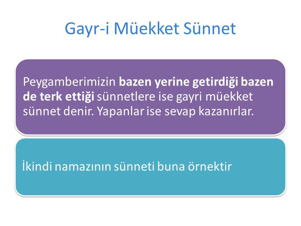 Gayr-i Müekket Sünnet