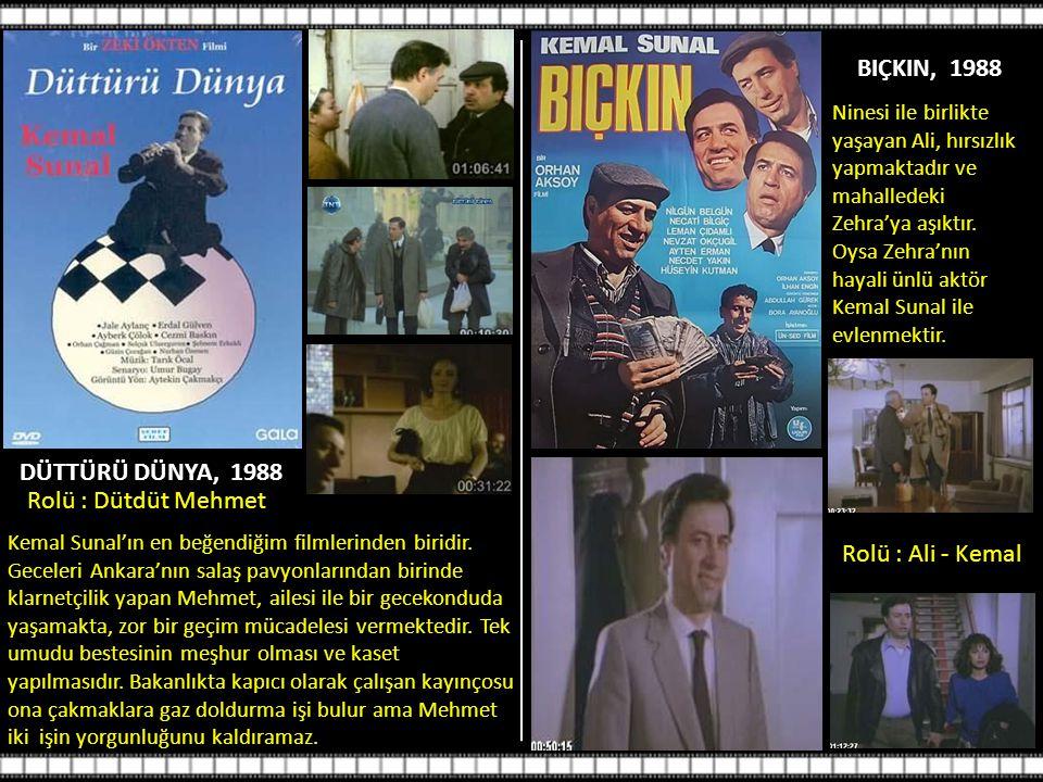 BIÇKIN, 1988 DÜTTÜRÜ DÜNYA, 1988 Rolü : Dütdüt Mehmet