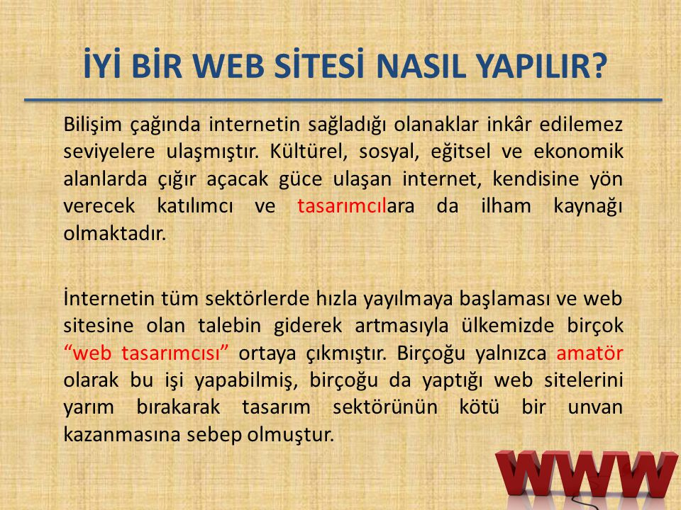 İYİ BİR WEB SİTESİ NASIL YAPILIR