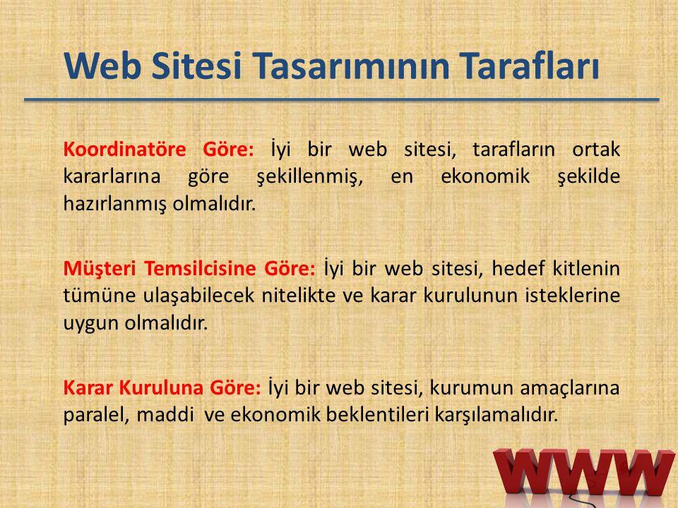 Web Sitesi Tasarımının Tarafları