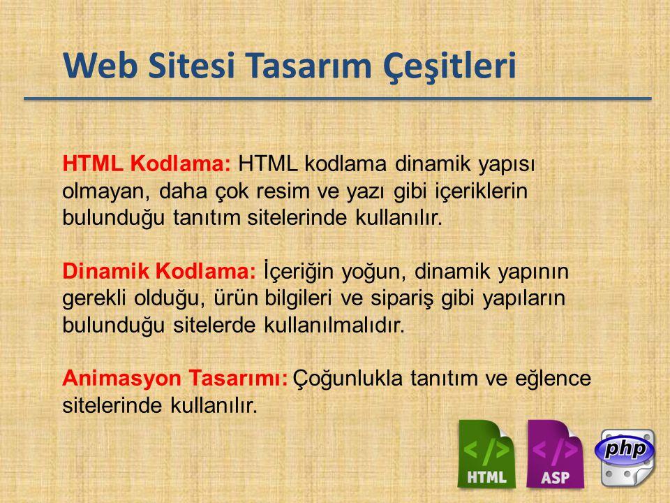 Web Sitesi Tasarım Çeşitleri