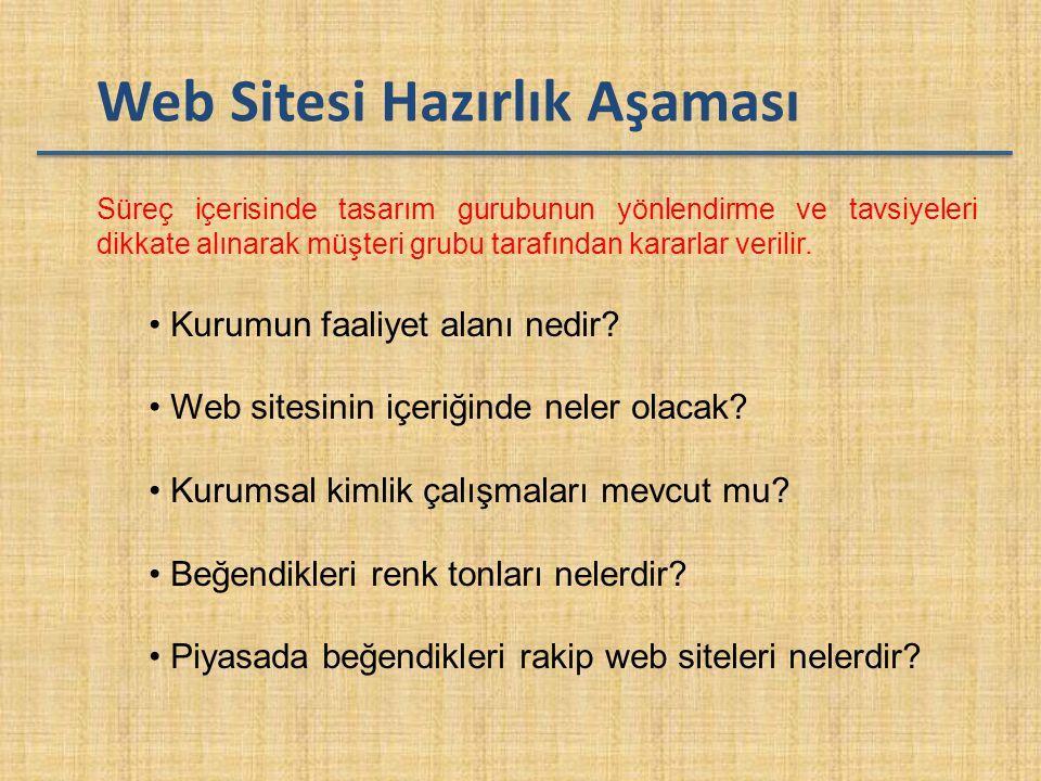 Web Sitesi Hazırlık Aşaması