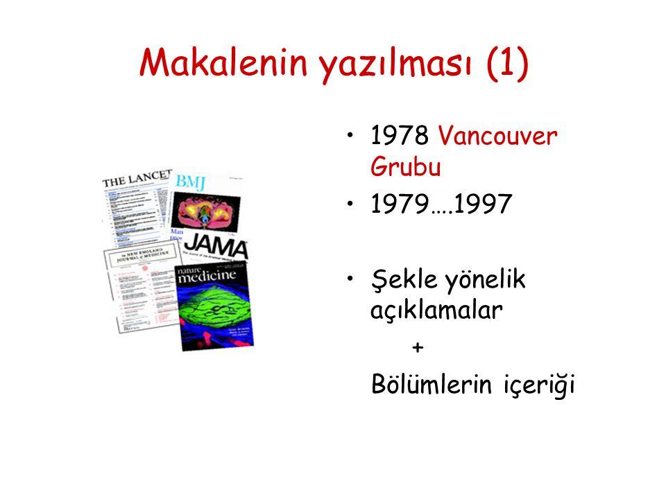 Makalenin yazılması (1)