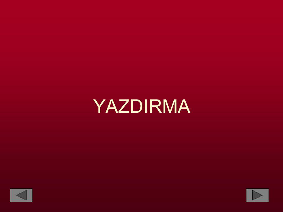 YAZDIRMA