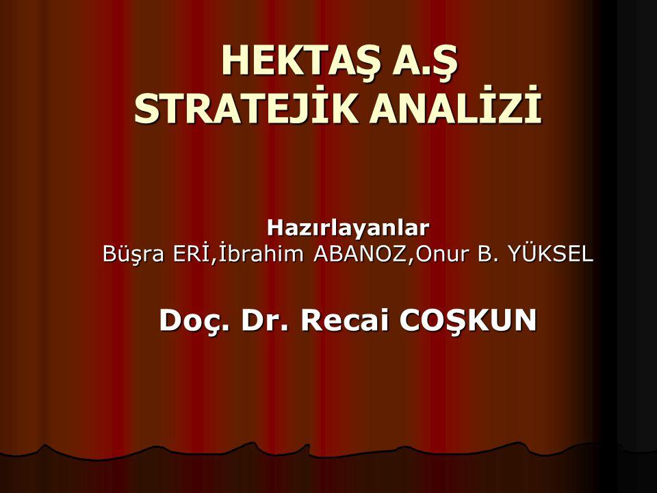 HEKTAŞ A.Ş STRATEJİK ANALİZİ