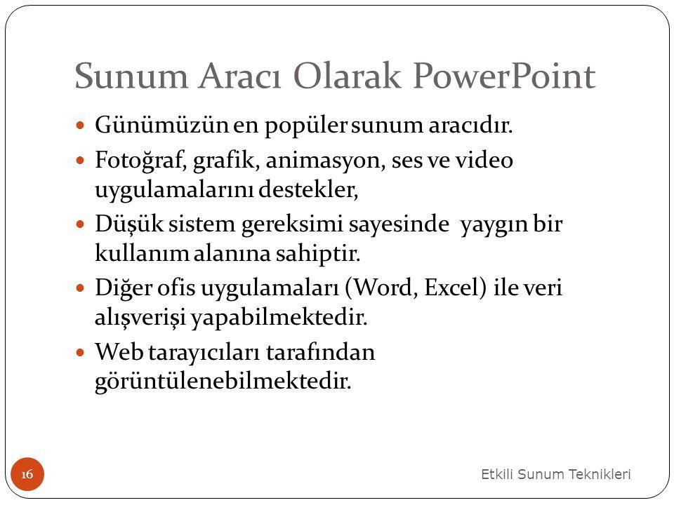 Sunum Aracı Olarak PowerPoint
