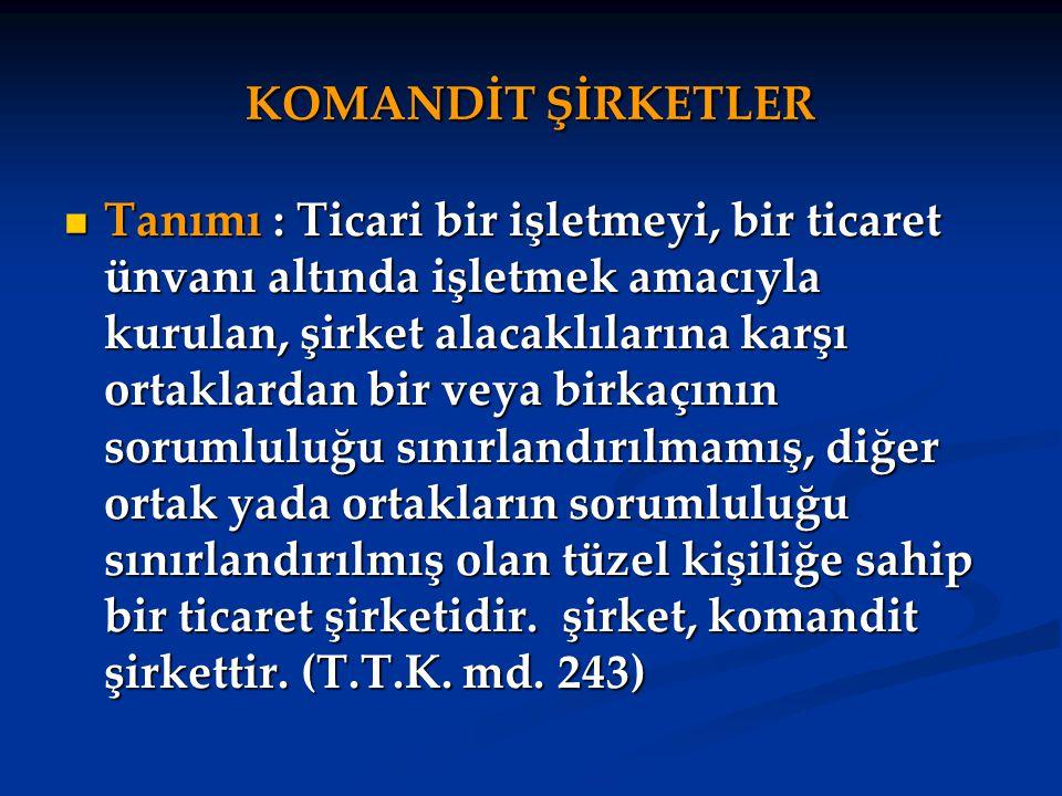 KOMANDİT ŞİRKETLER
