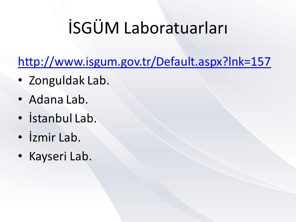 İSGÜM Laboratuarları http://www.isgum.gov.tr/Default.aspx lnk=157