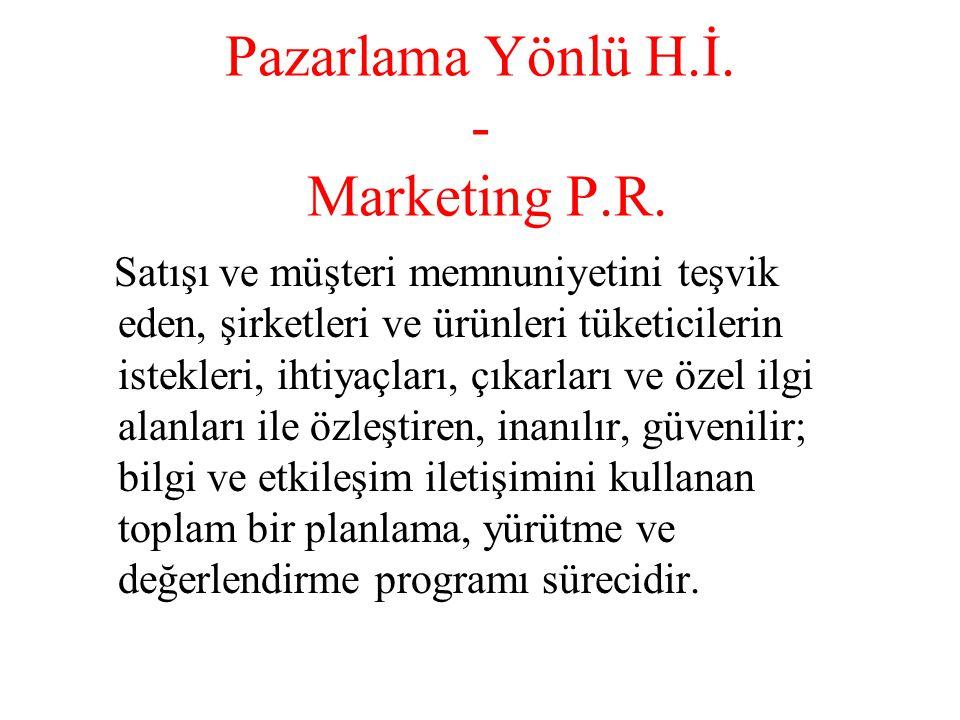 Pazarlama Yönlü H.İ. - Marketing P.R.