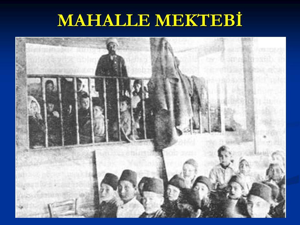 MAHALLE MEKTEBİ
