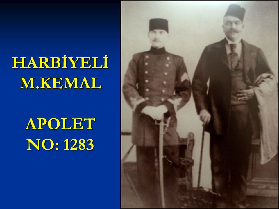 HARBİYELİ M.KEMAL APOLET NO: 1283