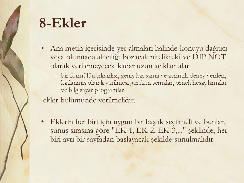 8-Ekler