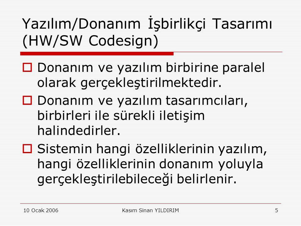 Yazılım/Donanım İşbirlikçi Tasarımı (HW/SW Codesign)