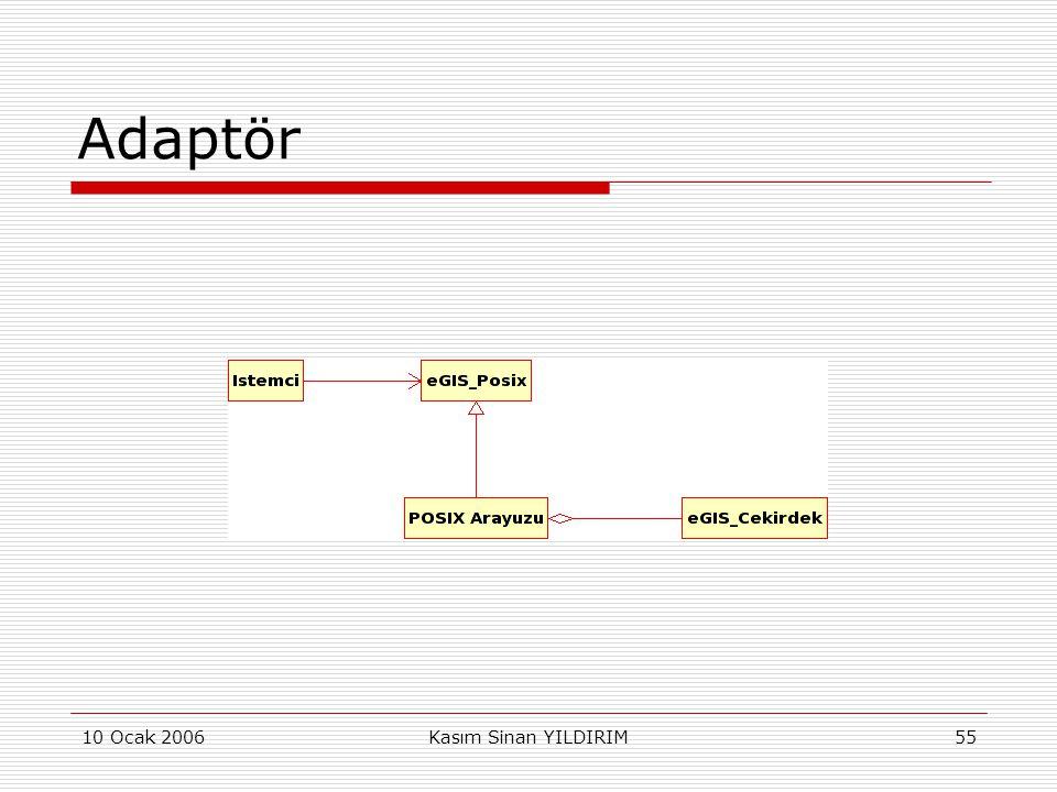 Adaptör 10 Ocak 2006 Kasım Sinan YILDIRIM
