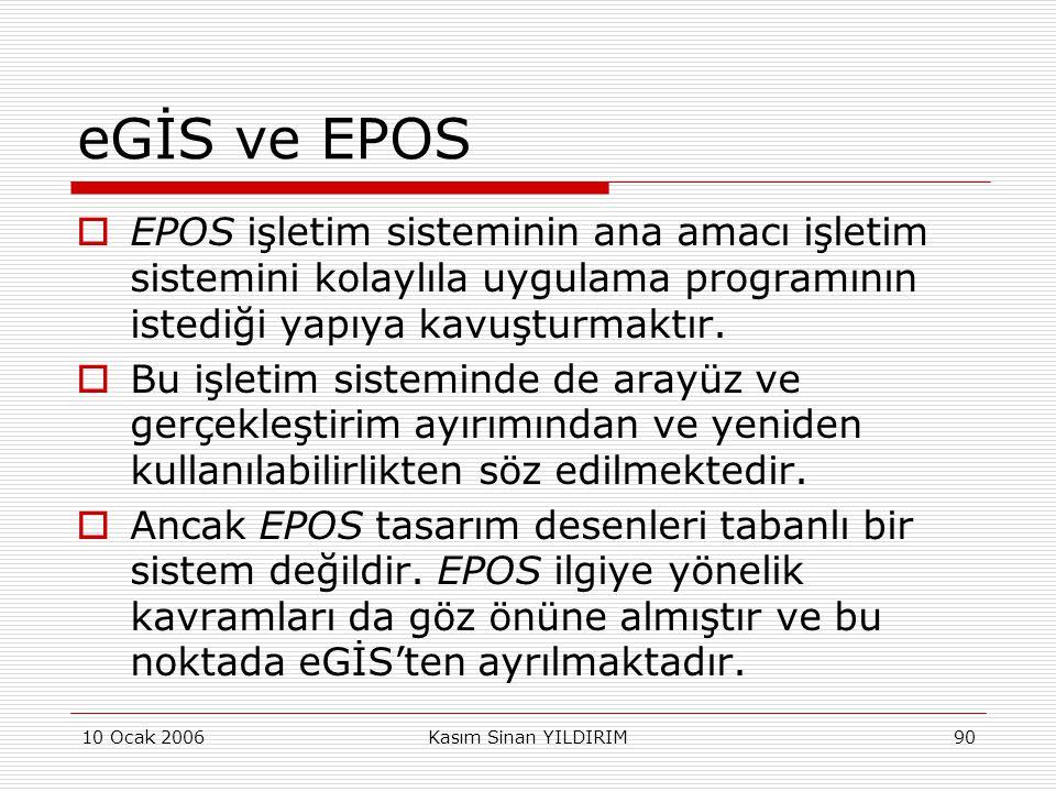 eGİS ve EPOS EPOS işletim sisteminin ana amacı işletim sistemini kolaylıla uygulama programının istediği yapıya kavuşturmaktır.