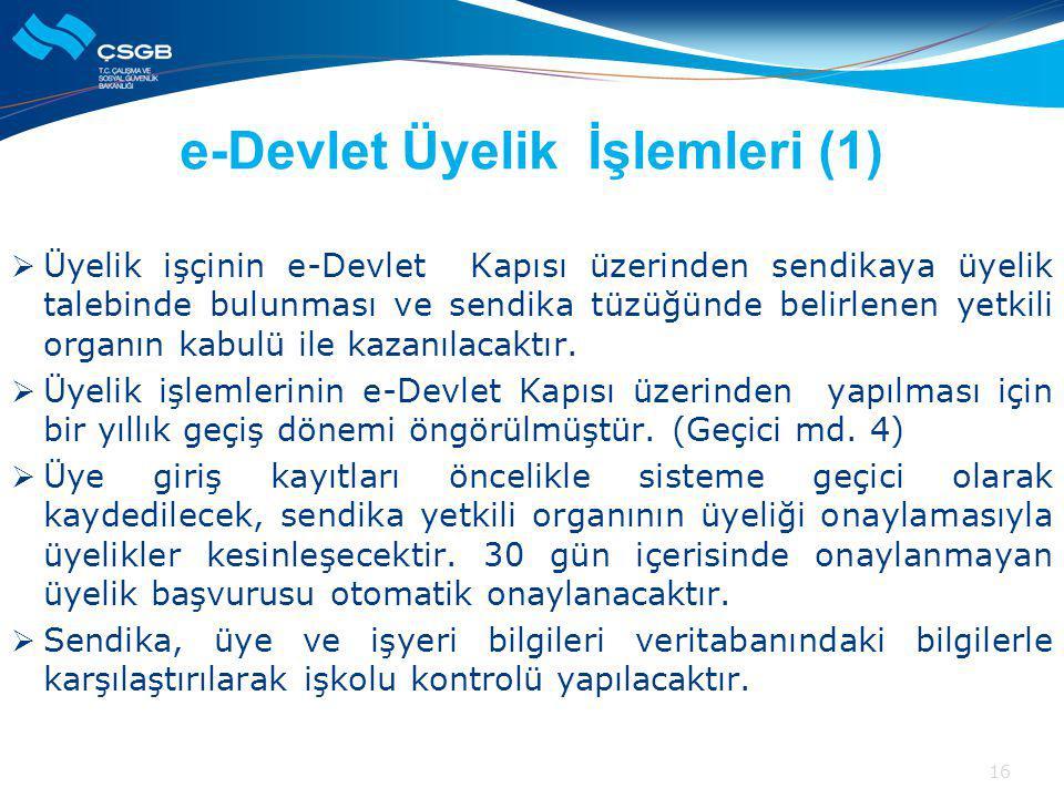 e-Devlet Üyelik İşlemleri (1)