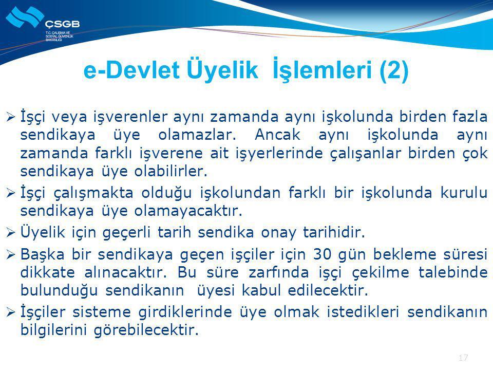 e-Devlet Üyelik İşlemleri (2)