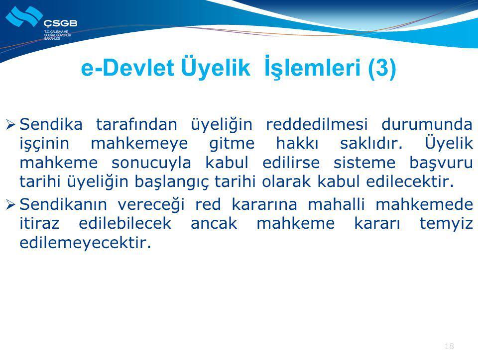 e-Devlet Üyelik İşlemleri (3)