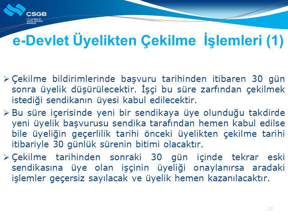 e-Devlet Üyelikten Çekilme İşlemleri (1)