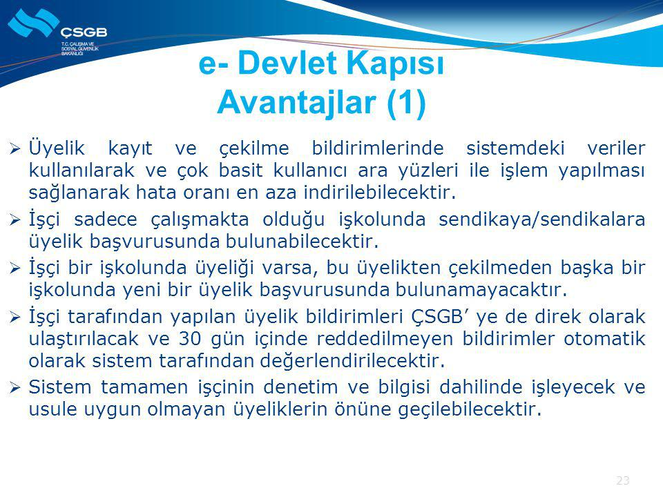 e- Devlet Kapısı Avantajlar (1)
