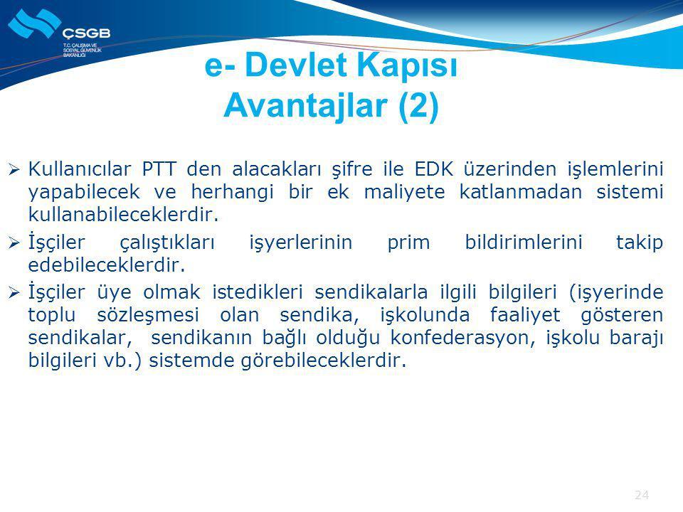e- Devlet Kapısı Avantajlar (2)