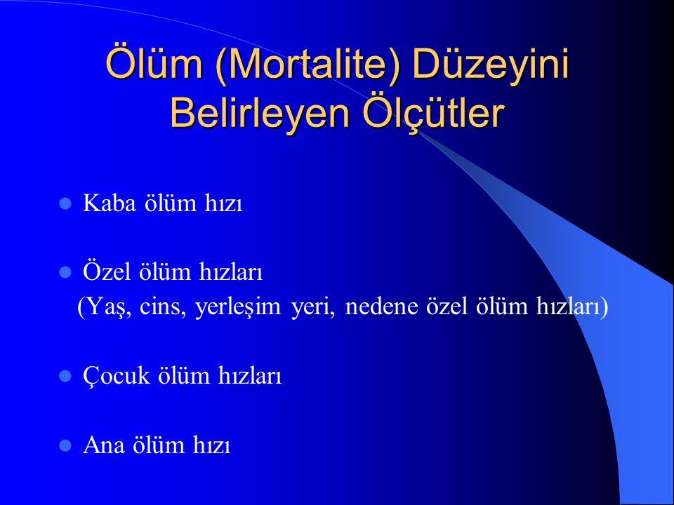 Ölüm (Mortalite) Düzeyini Belirleyen Ölçütler