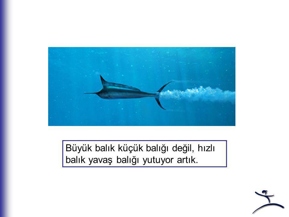 Büyük balık küçük balığı değil, hızlı balık yavaş balığı yutuyor artık.