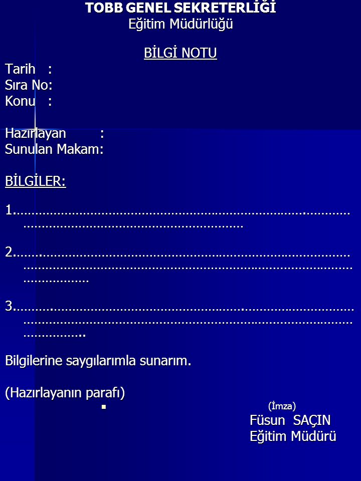 TOBB GENEL SEKRETERLİĞİ