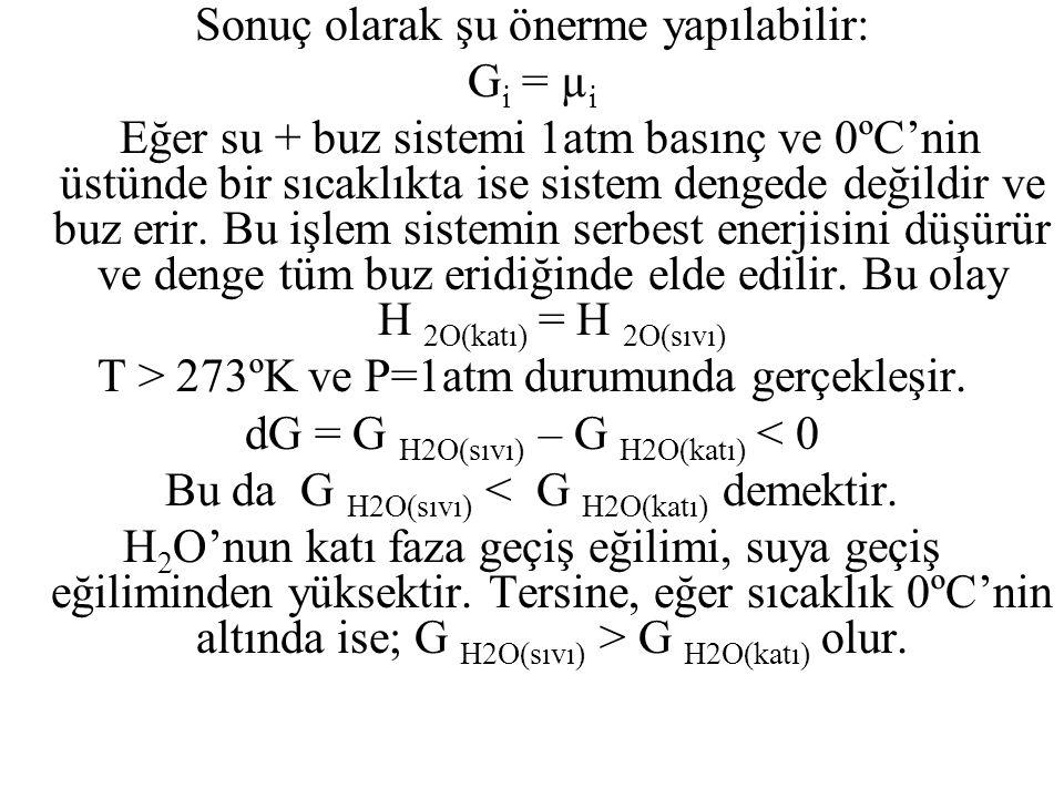 Sonuç olarak şu önerme yapılabilir: Gi = µi