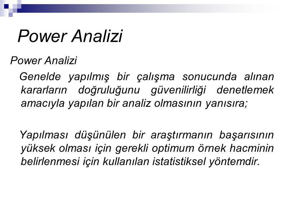Power Analizi Power Analizi