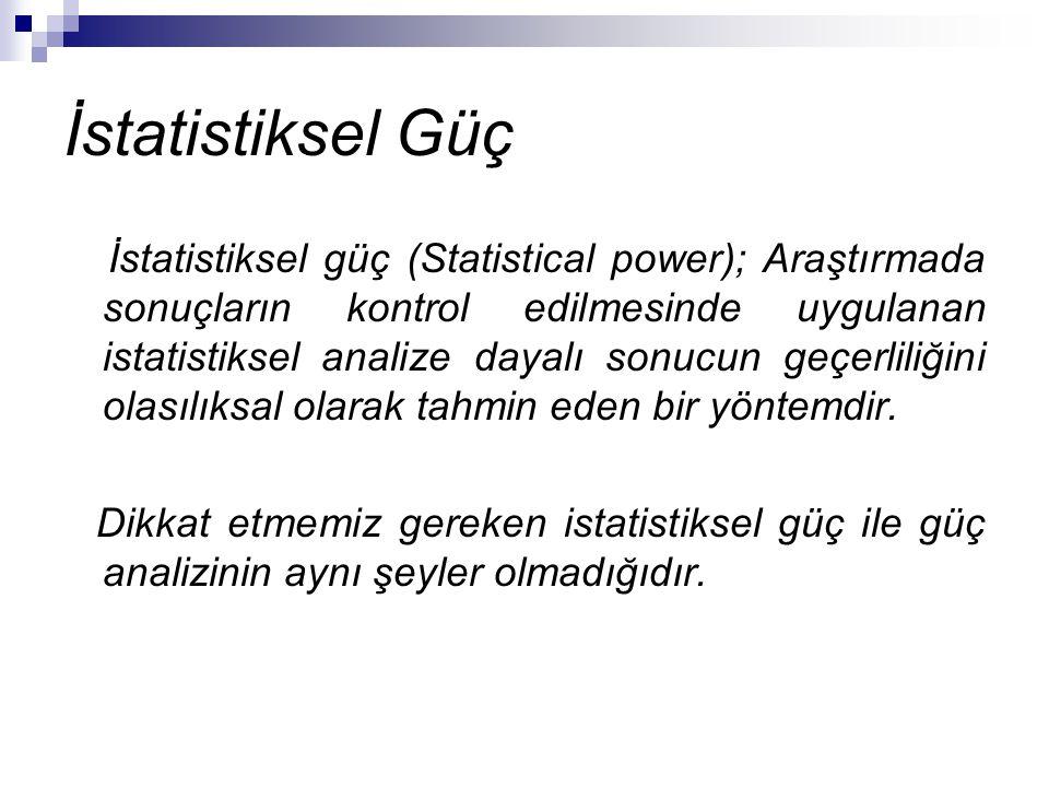 İstatistiksel Güç