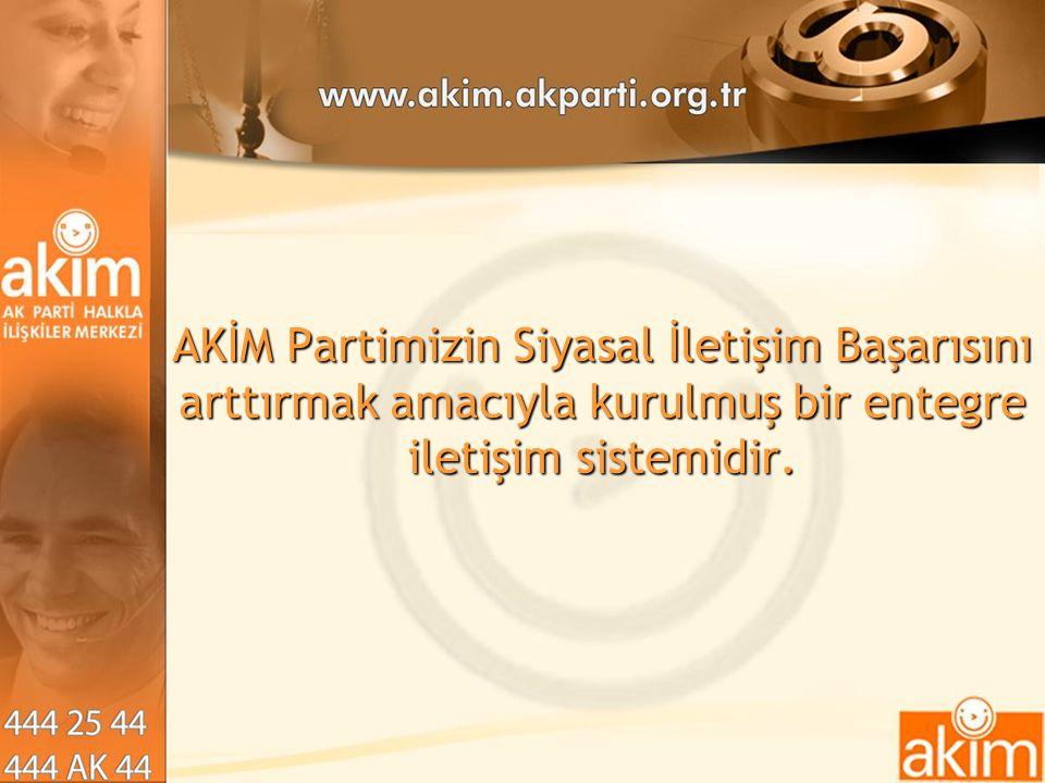 AKİM Partimizin Siyasal İletişim Başarısını arttırmak amacıyla kurulmuş bir entegre iletişim sistemidir.