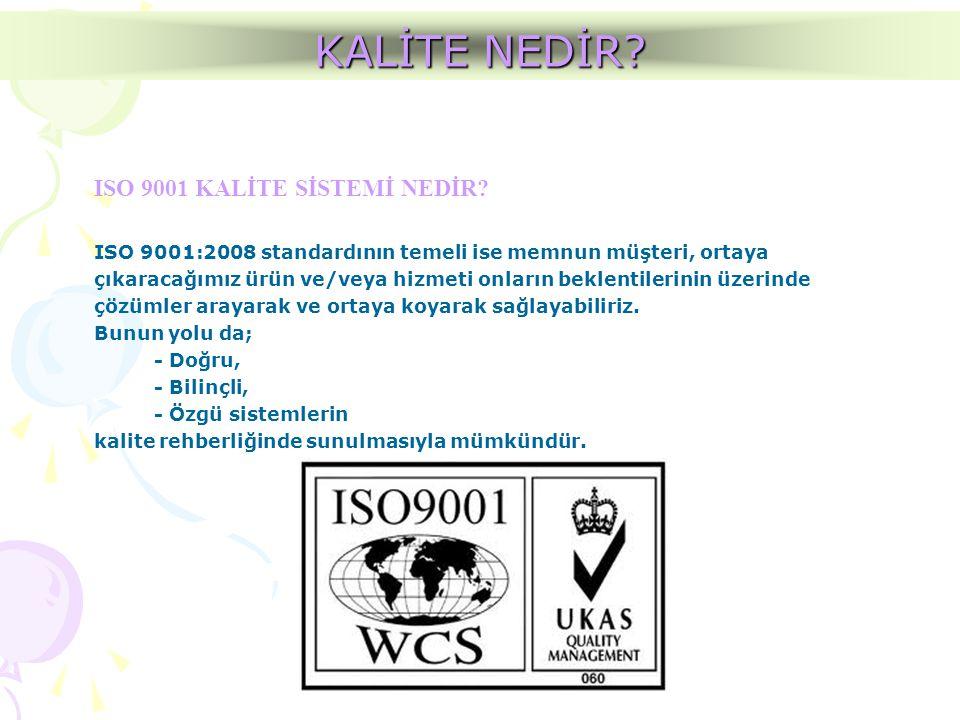 KALİTE NEDİR ISO 9001 KALİTE SİSTEMİ NEDİR