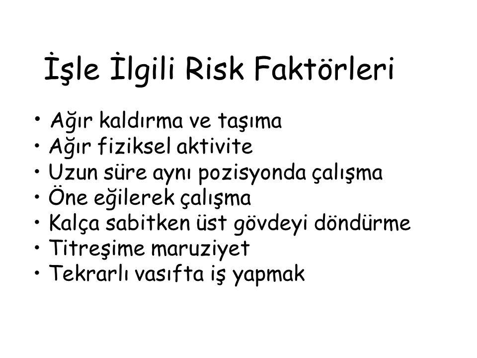 İşle İlgili Risk Faktörleri