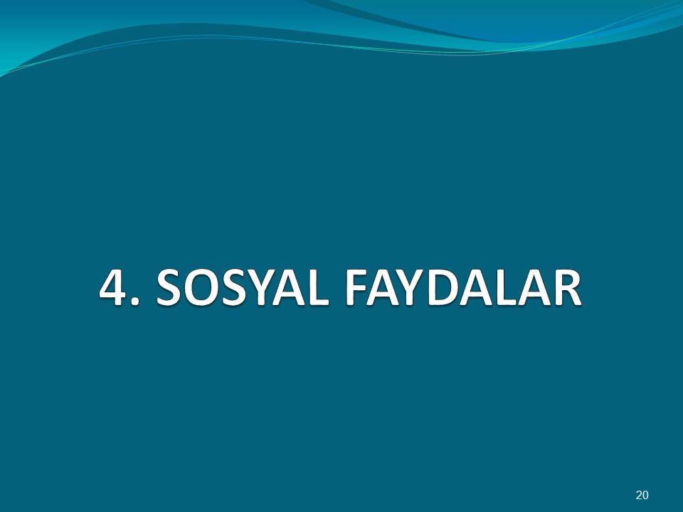 4. SOSYAL FAYDALAR