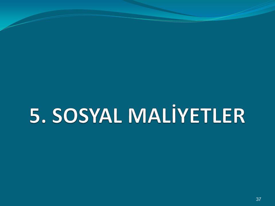5. SOSYAL MALİYETLER