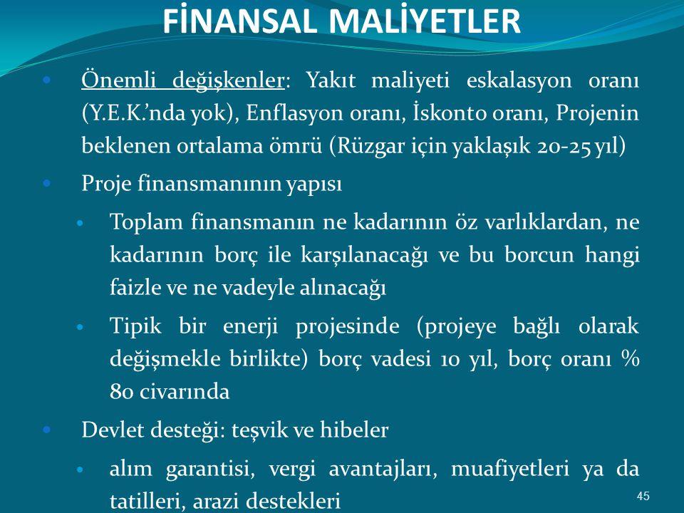 FİNANSAL MALİYETLER