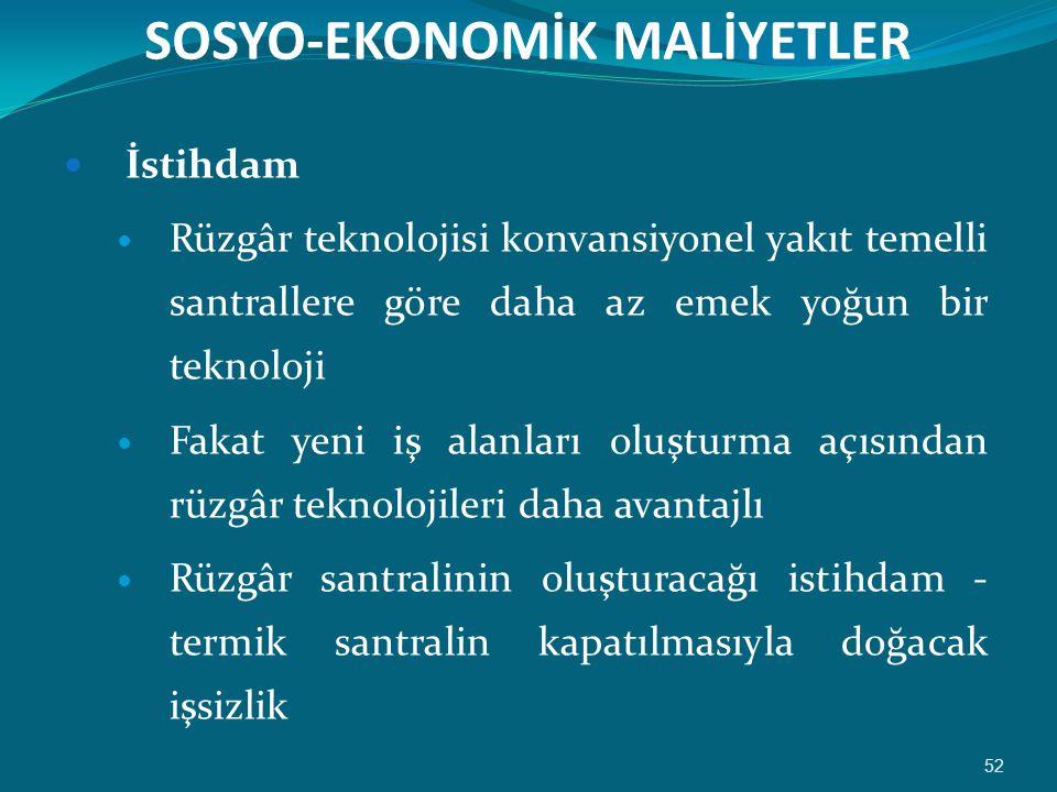 SOSYO-EKONOMİK MALİYETLER