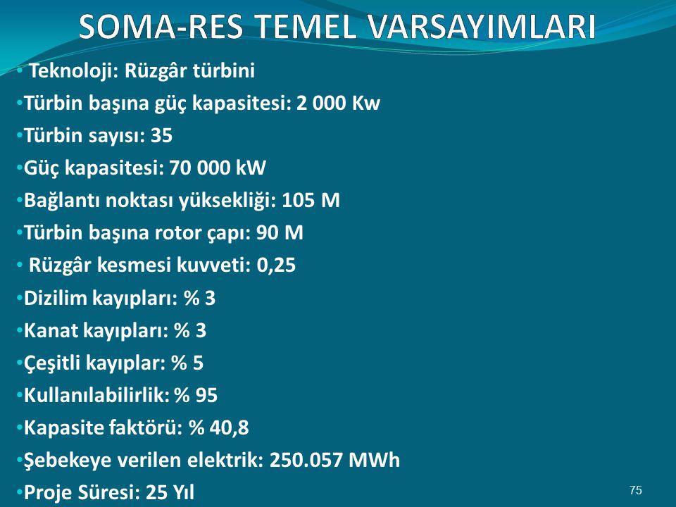 SOMA-RES TEMEL VARSAYIMLARI