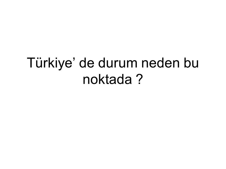 Türkiye' de durum neden bu noktada