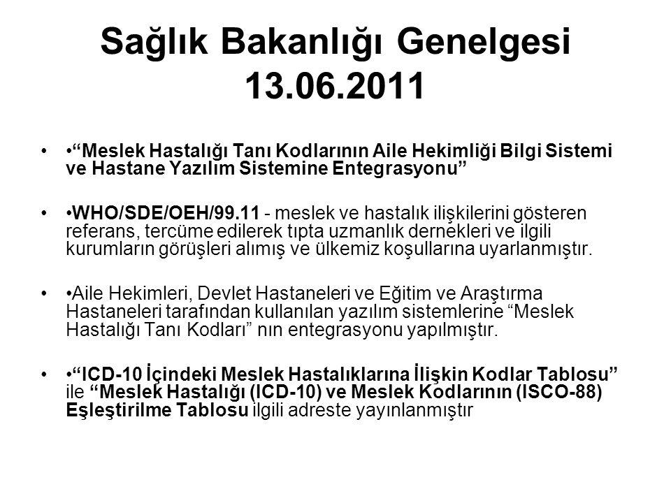 Sağlık Bakanlığı Genelgesi 13.06.2011