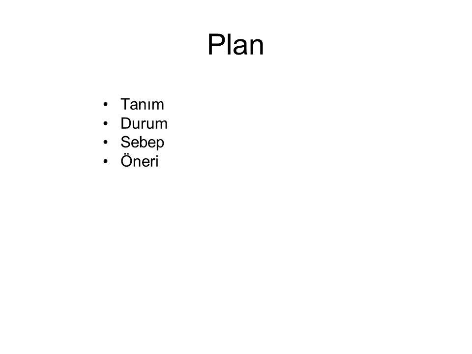Plan Tanım Durum Sebep Öneri