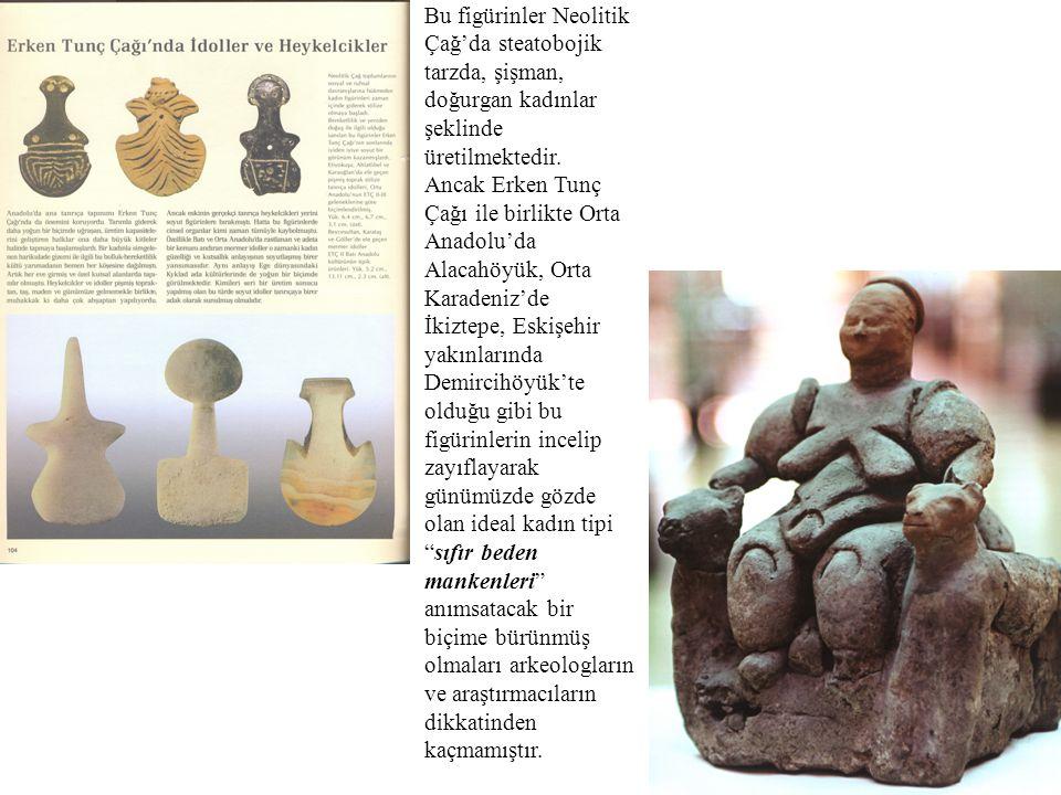Bu figürinler Neolitik Çağ'da steatobojik tarzda, şişman, doğurgan kadınlar şeklinde üretilmektedir.