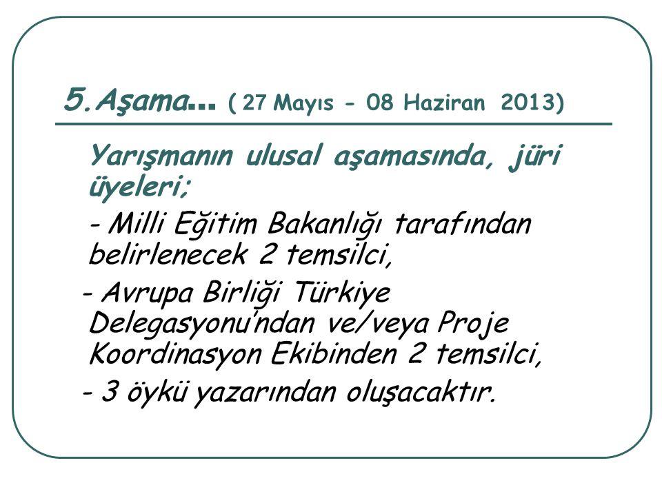 5.Aşama… ( 27 Mayıs - 08 Haziran 2013)