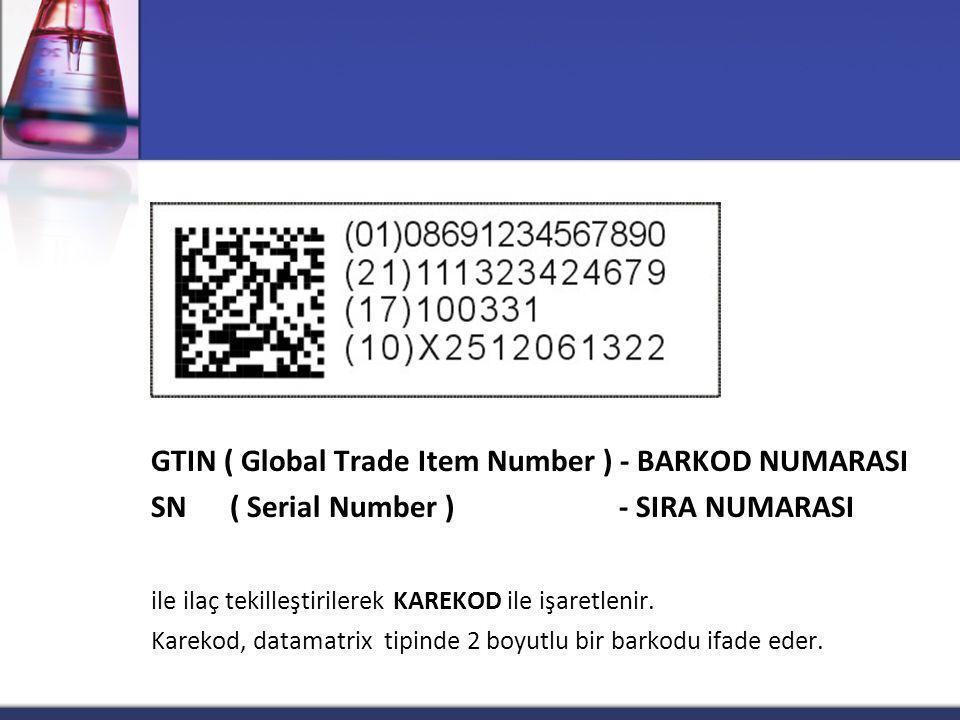 GTIN ( Global Trade Item Number ) - BARKOD NUMARASI