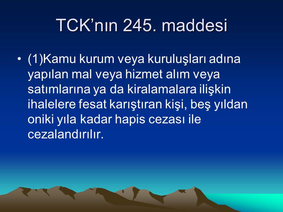 TCK'nın 245. maddesi