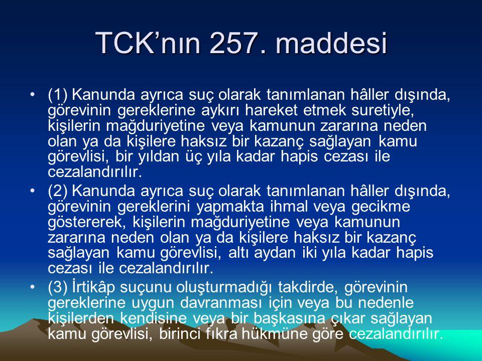 TCK'nın 257. maddesi