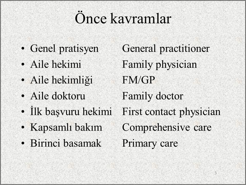 Önce kavramlar Genel pratisyen General practitioner